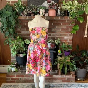 Ny&Co strapless floral party dress